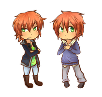 AT: Alistair and Nathanael by Linkerbell