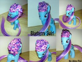 Custom Blueberry Swirl My Little Pony G4 FIM by Amyatpebble