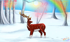 Candy Land Deer by PlumiiraCreature