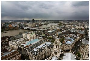 London from St. Paul's Cathedral by bsilvestre