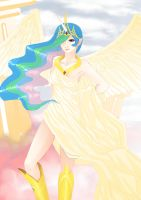 Princess Celestia ( humanized ) by WaiiTako