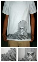 doodling on tshirt by tmpatsmpah