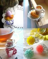 Flowers and Tea Ring Collection by StrangeWonderland