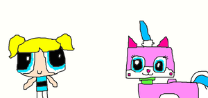 Bubbles meets Unikitty by Simpsonsfanatic33