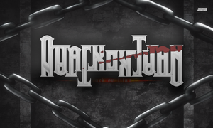 'Attack on Titan' rotational ambigram. by JZumun