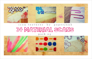 IT Pack 05: Material Scans by PaperJunk