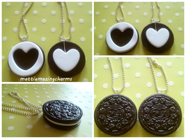 Handmade Polymer Clay Oreo BFF Key Chains~ by mattiemazingcharms