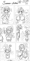 Summer clothes comic by Snow-Lantern