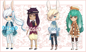 Adoptables 12 [1/4 OPEN] by Chows-adopts