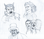 Fright Fest Sketches by Kindii