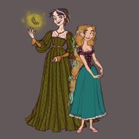 Punzel and Gothel Redesign - PUNZEL by djeffers