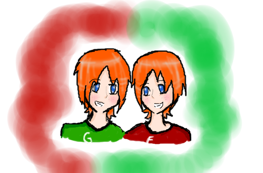 Fred and George by Akatsukifanatic