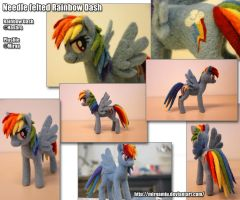 Needle felted Rainbow Dash for Ruhje by Mirnamiu