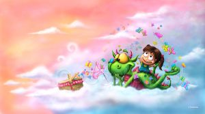 Butterflies Picnic In The Sky by Tooshtoosh