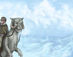 Tauntaun by littleshade