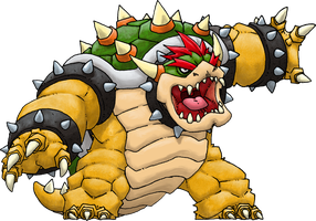 Bowser (Smash Bros.) by Hologramzx