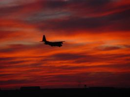C-130 on approach by chris-stahl