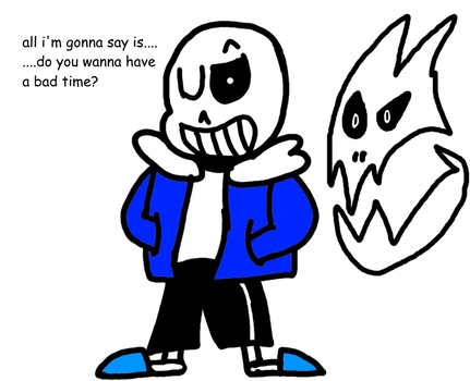 Sans being cool by maxkid1030