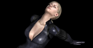 Jill Valentine Looking up (close up) by nashdnash2007