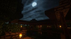 Pool at night 2 by Atomicsickness