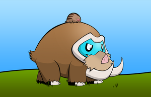 Mamoswine and Swinub by kitty-23