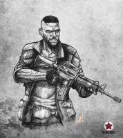 Homefront_Connor sketch by mohammedAgbadi