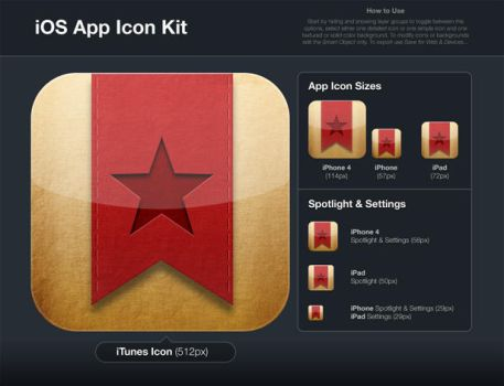Free iPhone App Icon Kit by webkho
