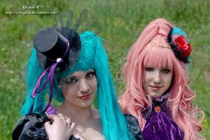 Miku Hatsune and Luka Megurine by VertigoZX