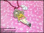 Bee and Puppycat Necklace by GrandmaThunderpants