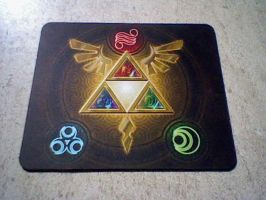 Triforce Mousepad by Karite-Kita-Neko