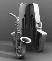 saxophone 3d model by fr3dosART