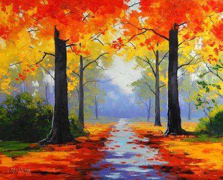Autumn Road by artsaus