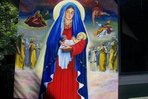 Virgin Mary with baby by Bigterri