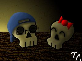 OAD-Day 14-My Skull With A Hat by Flamer-Shaftglutton