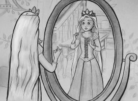 Rapunzel crowned by HollyRoseBriar