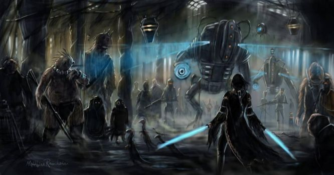 Chased through the bazars of Mos Eisley by Furgur