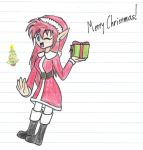 Christmas Artist (gift for sweetcorn-chan) by WendyLovesGreen