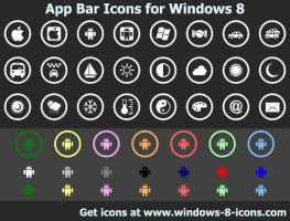 App Bar Icons for Windows 8 by Ikonod