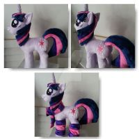 My little Pony Plushie Twilight Sparkle by CINNAMON-STITCH