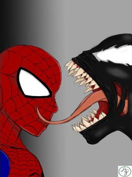 Spiderman And Venom by 0LYA0