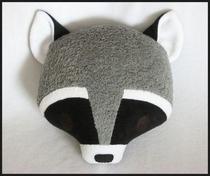 Raccoon Pillow by melkatsa