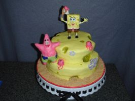 Spongebob Birthday Cake by SarahMame