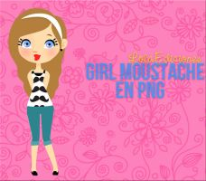 Girl Moustache by LolaEdiciones
