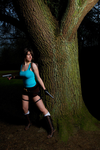 Lara Croft - Behind the tree.. by Visual-Aurelie