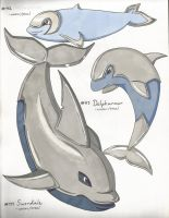 #112 Helmpoise, #113 Dolpharmor, #114 Swordale by Punkkis-chan