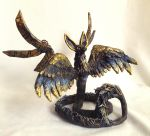 Anubis - Egyptian Steampunk Flying Fox Sculpture by LuxDani