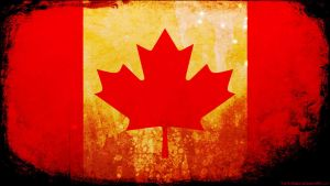 Canada flag grunge wallpaper by The-proffesional