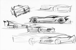 Batmobile sketches 1 by fjagcars