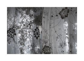 White curtain with flowers by iram