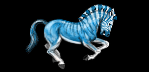 Blue Quagga by Voodoo-Wolf